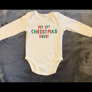 """3M """"My First Christmas Ever"""" Onesie"""